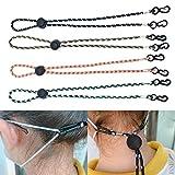 4 Stück Maskenkette, längenverstellbar – Maskenkette, Maskenband,...