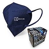 Blau FFP2 Maske - Schachtel à 20 Stück - EU CE Zertifiziert, mit...