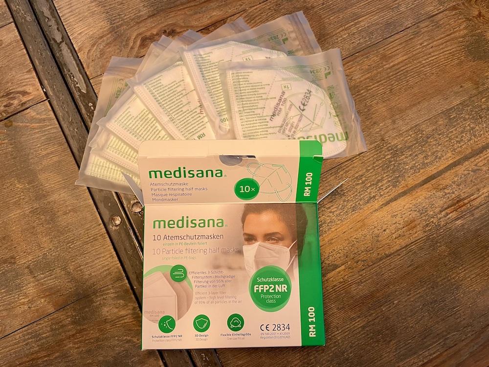 Test Medisana FFP2 Atemschutzmasken