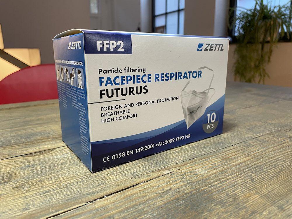 Zettl FFP2-Maske Futurus Verpackung Amazon